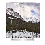 Never Summer Wilderness Area Panorama Shower Curtain