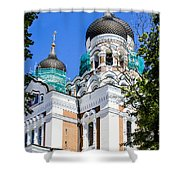 Nevsky Cathedral - Tallin Estonia Shower Curtain