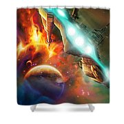 Nevtar Stardrive Shower Curtain