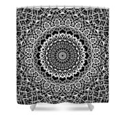New Abstract Plaid Kaleidoscope Shower Curtain