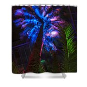 New Age Tropical Palm Shower Curtain