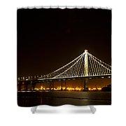 New Bay Bridge Shower Curtain by Bill Gallagher