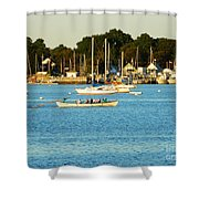 New Bedford Pier Shower Curtain