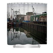 New Bedford Waterfront No. 4 Shower Curtain by David Gordon