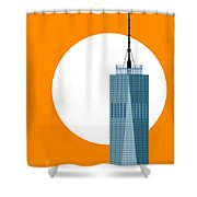 New Beginnings Freedom Tower Shower Curtain