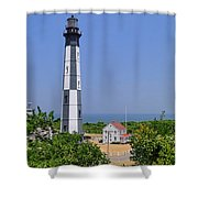 New Cape Henry Lighthouse Vertical Shower Curtain