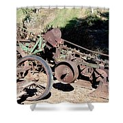 New Crop Antiquated Plow Shower Curtain