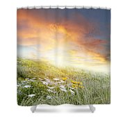 New Day Dawn Shower Curtain