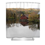 New England Autumn Two Shower Curtain