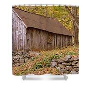 New England Barn Shower Curtain