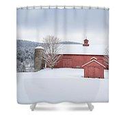 New England Barns Shower Curtain