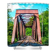 New England Bridge Shower Curtain