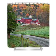 New England Farm Square Shower Curtain
