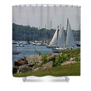 New England Seascape Shower Curtain