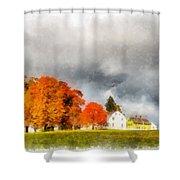 New England Village Shower Curtain