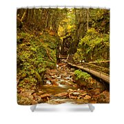 New England Waterfall Gorge Shower Curtain