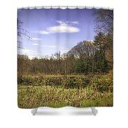 New England Wetland Shower Curtain