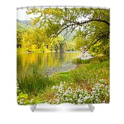 New Englands Early Autumn Shower Curtain