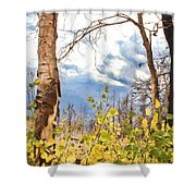 New Generation - Mixed Media - Casper Mountain - Casper Wyoming Shower Curtain