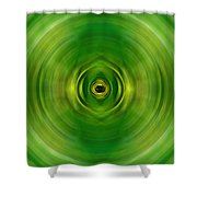 New Growth - Green Art By Sharon Cummings Shower Curtain