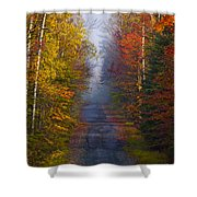 New Hampshire Back Road Shower Curtain