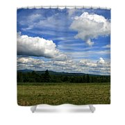 New Hampshire Blue Sky  Shower Curtain