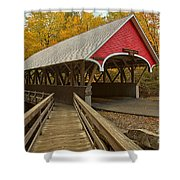 New Hampshire Covered Bridge Shower Curtain