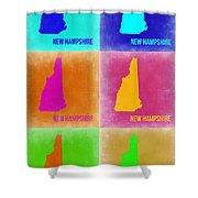 New Hampshire Pop Art Map 2 Shower Curtain