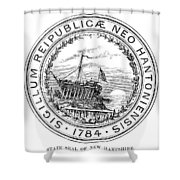 New Hampshire State Seal Shower Curtain
