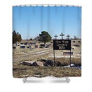 New Hope Cemetery Shower Curtain