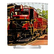 New Hope Ivyland Railroad With Cars Shower Curtain