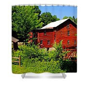 New Hope Mill Shower Curtain by Dave Files