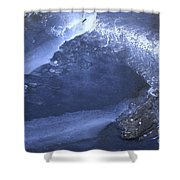 New Ice Blue Shower Curtain