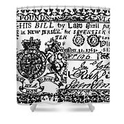 New Jersey Banknote, 1763 Shower Curtain