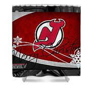 New Jersey Devils Christmas Shower Curtain