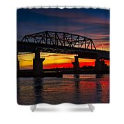 New Jersey Meadowlands Sunset Shower Curtain