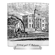 New Jersey Rahway, 1844 Shower Curtain