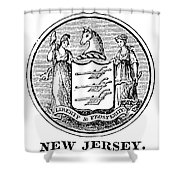 New Jersey State Seal Shower Curtain