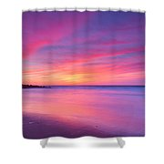 New Jersey Sunrise Shower Curtain