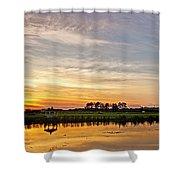 New Jersey Sunset Panoramic Shower Curtain
