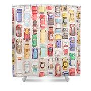 New Jersey Traffic Jam Shower Curtain