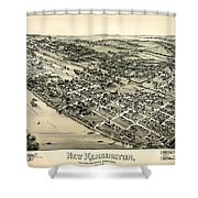 New Kensington Pennsylvania 1896 Shower Curtain