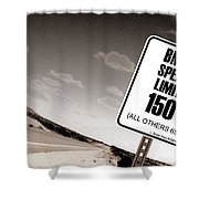 New Limits Sepia Shower Curtain