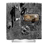 New Lock On Old Door 1 Shower Curtain