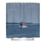 New London Shelf Light Shower Curtain