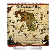 New Map Of The Kingdoms Of Magic Shower Curtain