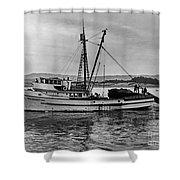New Marretimo Purse Seiner Monterey Bay Circa 1947 Shower Curtain
