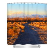 New Mexico Back Country Road Shower Curtain