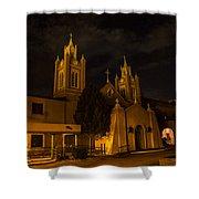 New Mexico Church Night Shower Curtain