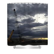 New Mexico Cloudy Sunrise Shower Curtain
